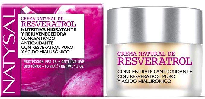 Natysal Crema Natural de Resveratrol y Ácido Hialurónico 50ml