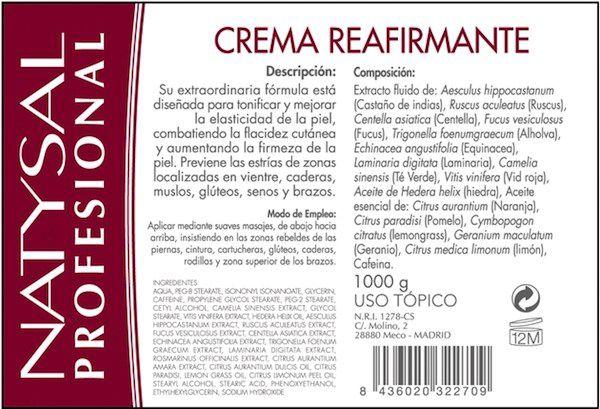 Natysal Crema Reafirmante 1Kg