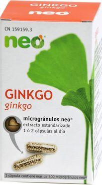 Neo Ginkgo Biloba Microgranulos 45 cápsulas