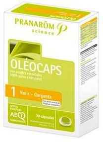 Pranarom Oleocaps 1 Nariz y Garganta 30 cápsulas