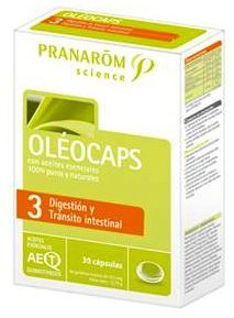 Pranarom Oleocaps 3 Digestión y Tránsito Intestinal 30 cápsulas