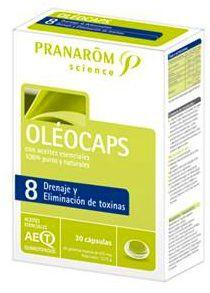 Pranarom Oleocaps 8 Drenaje y Elimina Toxinas 30 cápsulas