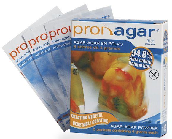 Pronagar Agar-Agar en polvo 5 Sobres 4g