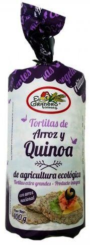 El Granero Integral Tortitas de Arroz con Quinoa y Tamari Bio 100g