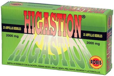 Robis Higastion 20 ampollas