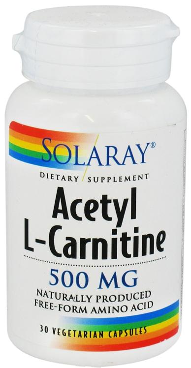 Solaray Acetil L-Carnitina 500mg 30 cápsulas