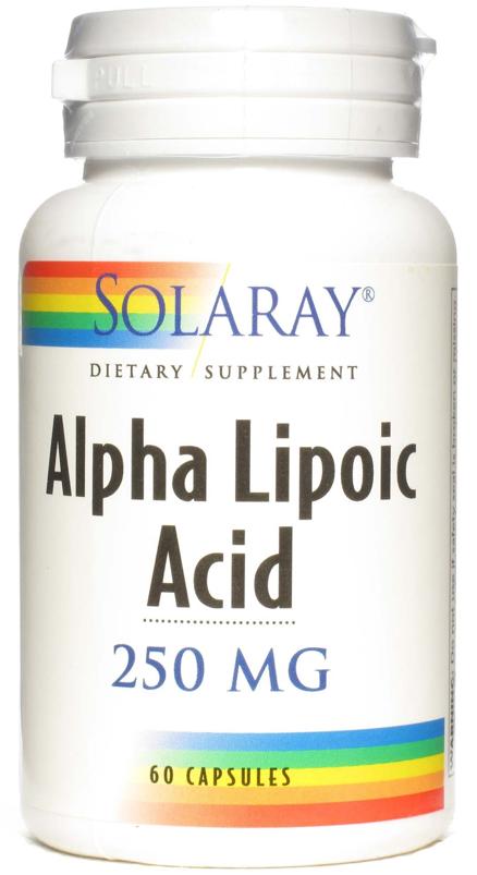 Solaray Ácido Alfa Lipoico 250mg 60 cápsulas