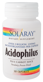 Solaray Acidophilus Plus 30 cápsulas