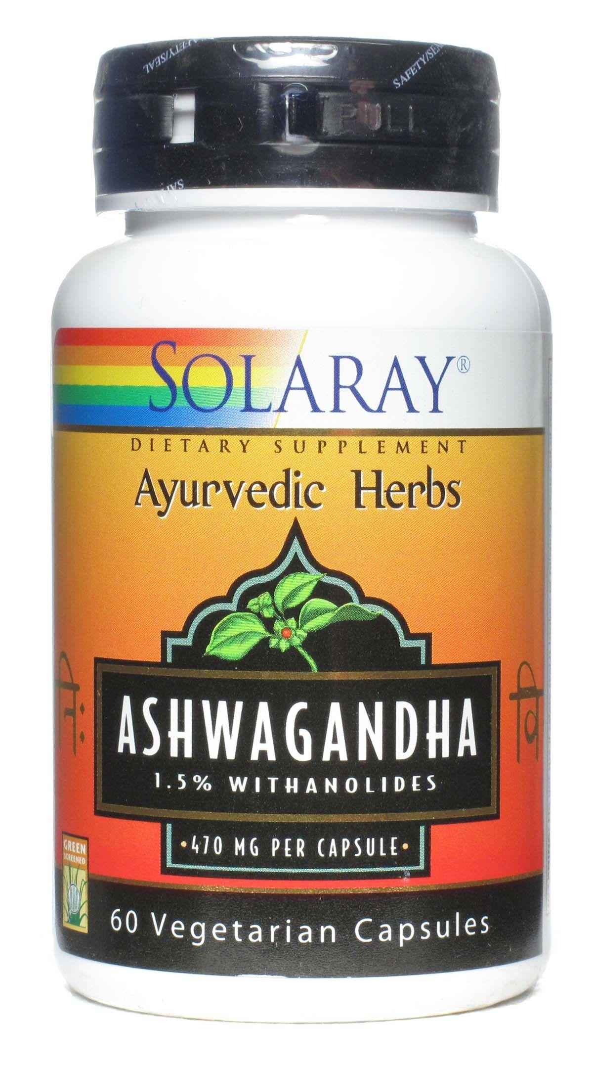 Solaray Ashwagandha 60 cápsulas