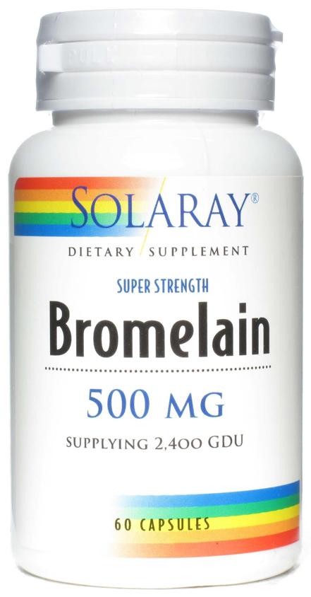 Solaray Bromelain 500mg 60 cápsulas