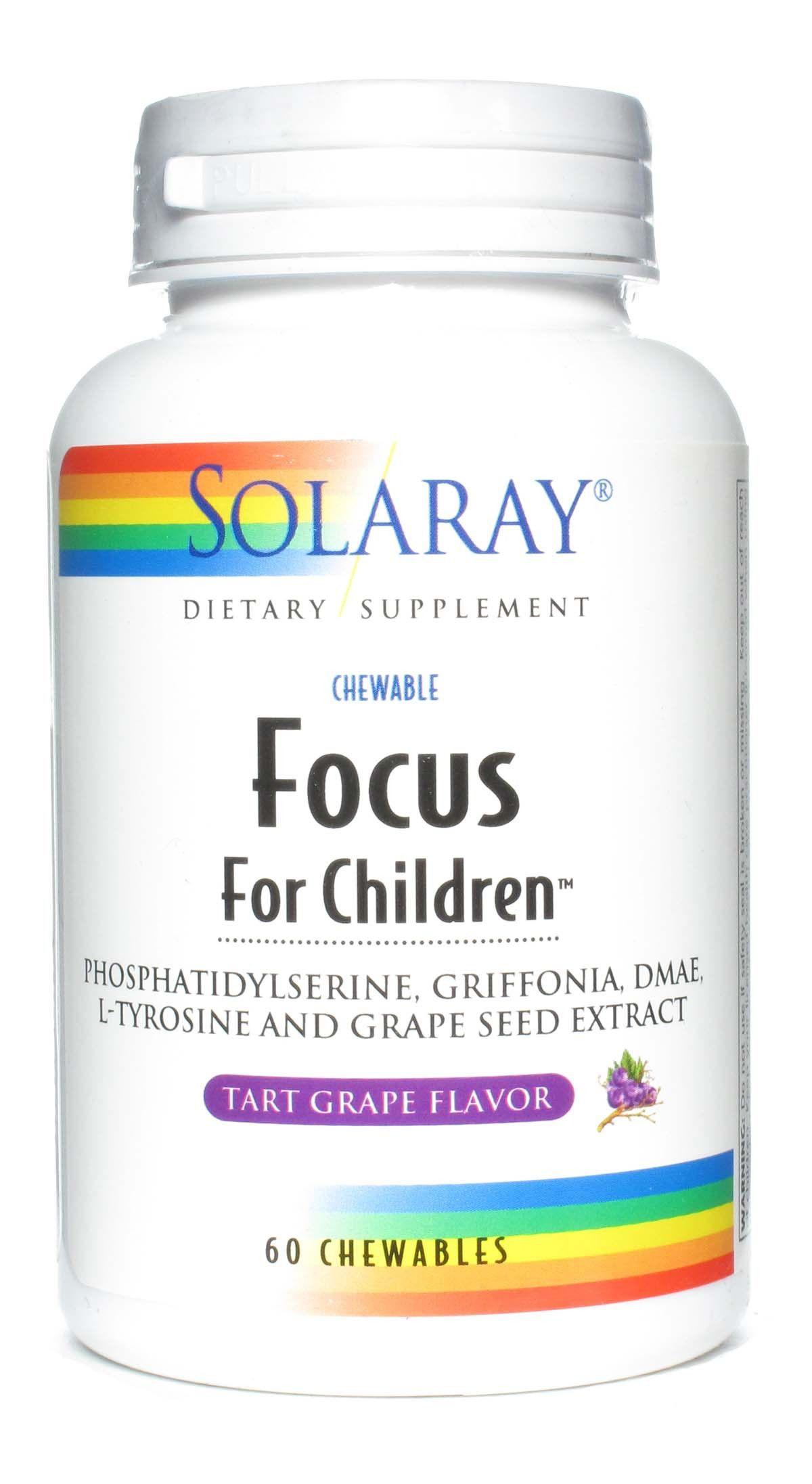 Solaray Focus for Children 60 masticables sabor Arándanos