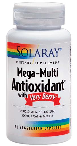 Solaray Mega Multi Antioxidante & Very Berry 60 cápsulas