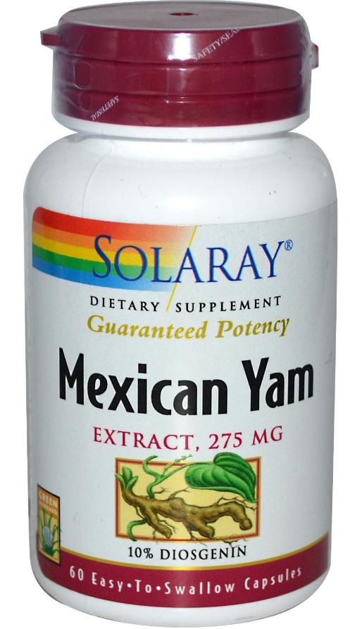 Solaray Mexican Yam 60 cápsulas