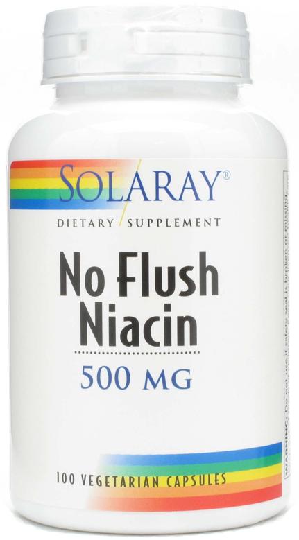 Solaray Niacina No Ruborizante 500mg 100 cápsulas