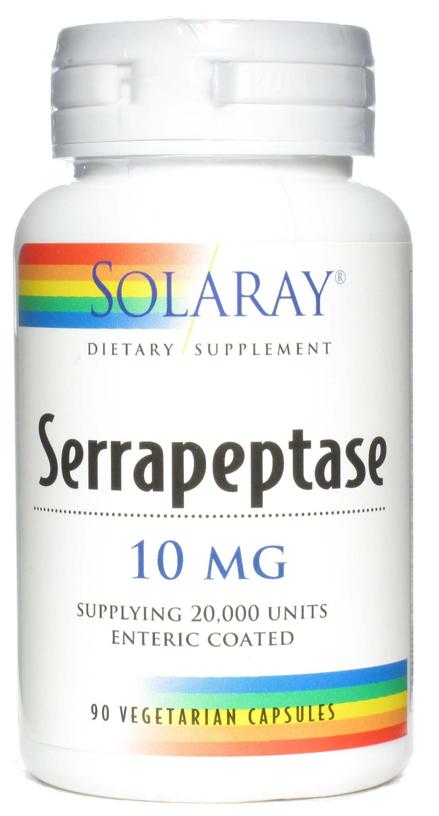 Solaray Serrapeptase 90 cápsulas