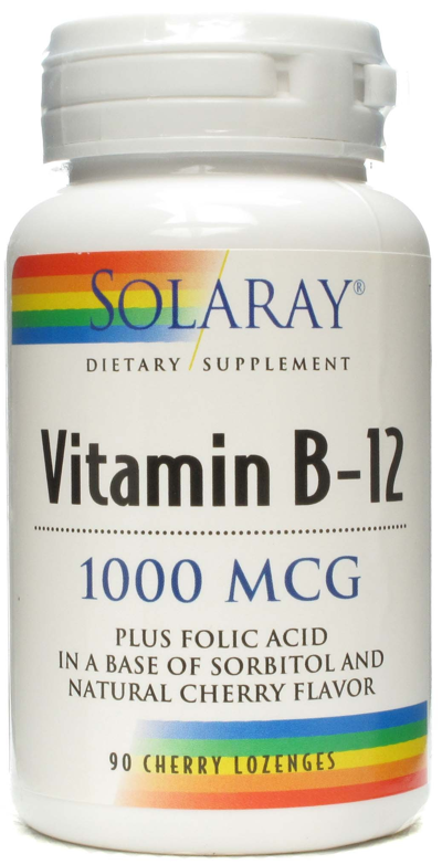 Solaray Vitamina B12 1000 mcg 90 comprimidos sublinguales