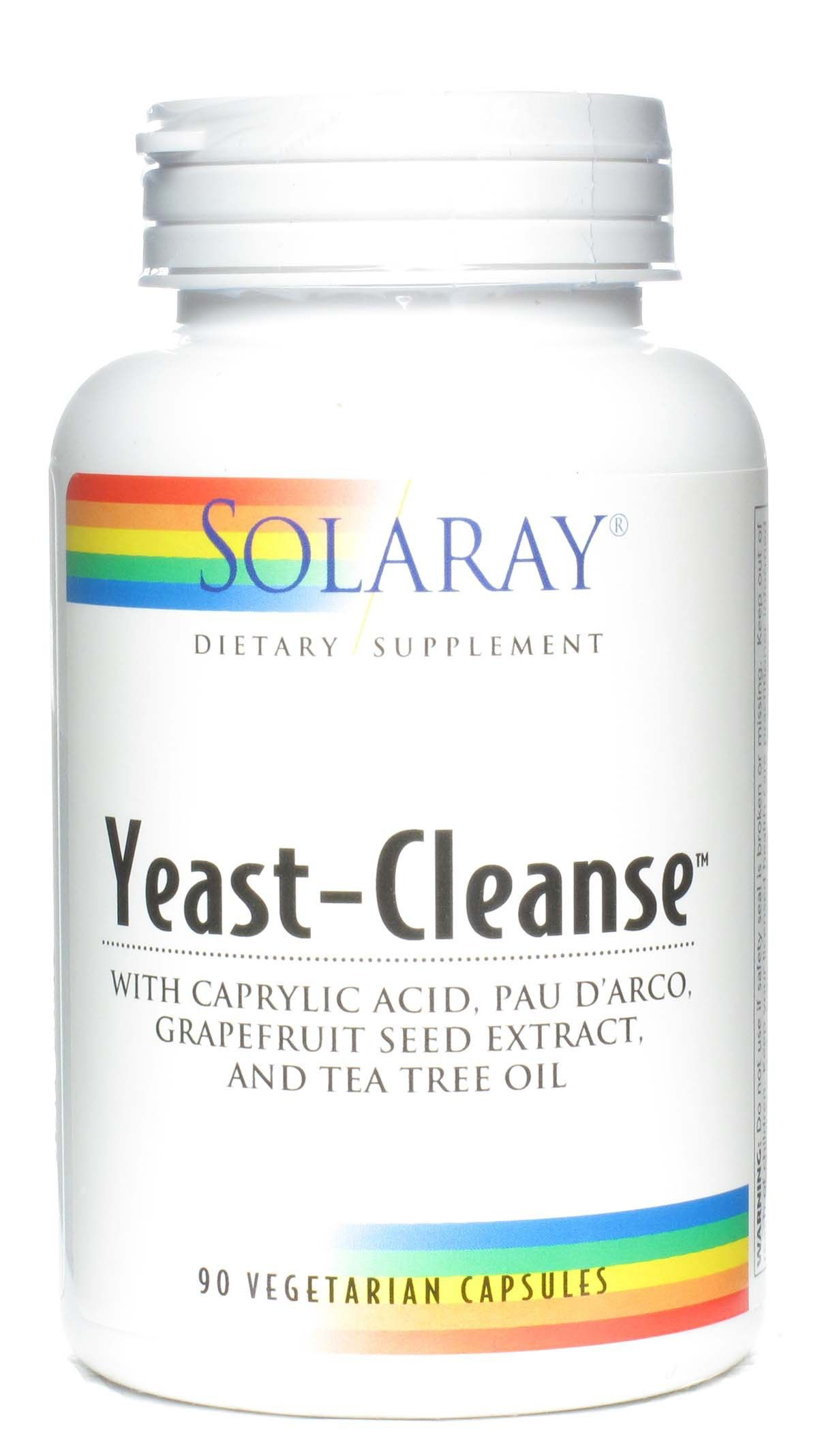 Solaray Yeast Cleanse 90 cápsulas