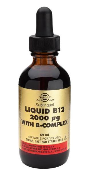 Solgar Vitamina B12 líquida con B Complex 59 ml