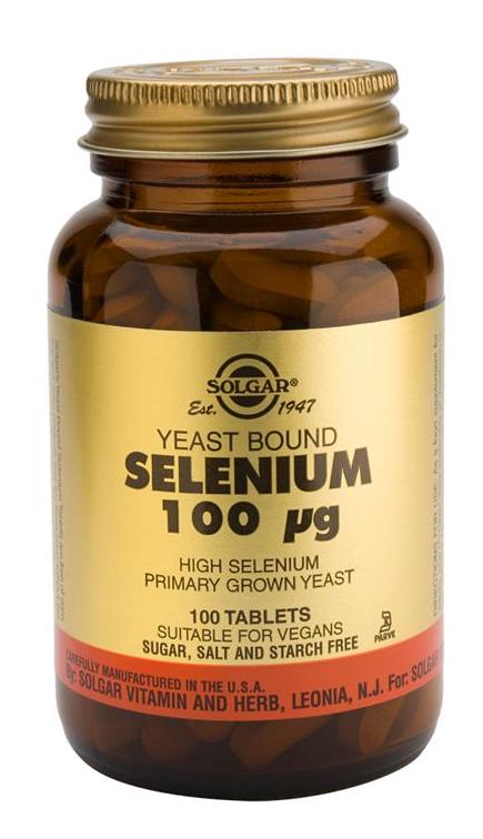 Solgar Selenio en Levadura 100 microgramos 100 comprimidos