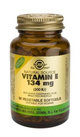 Solgar Vitamina E 200 UI 100 cápsulas blandas vegetales