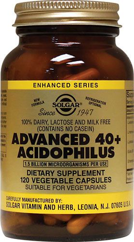 Solgar 40+ Acidophilus Avanzado 120 cápsulas