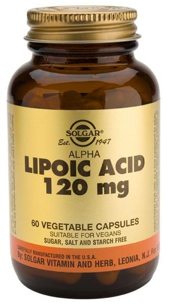 Solgar Acido Alfa Lipoico 120mg 60 cápsulas