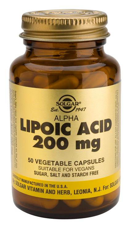 Solgar Acido Alfa Lipoico 200 mg 50 cápsulas