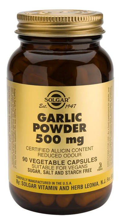 Solgar Ajo en Polvo 500 mg 90 cápsulas