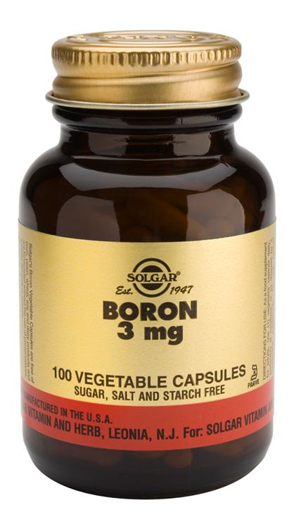 Solgar Boro 3 mg  100 cápsulas