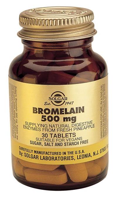 Solgar Bromelina 500mg 30 comprimidos