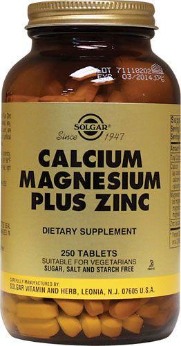 Solgar Calcio - Magnesio - Zinc 250 comprimidos
