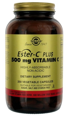 Solgar Ester C Plus 500 mg 250 cápsulas