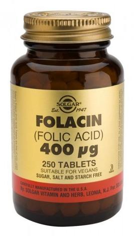 Solgar Folacin (acido folico) 400 mcg 250 comprimidos