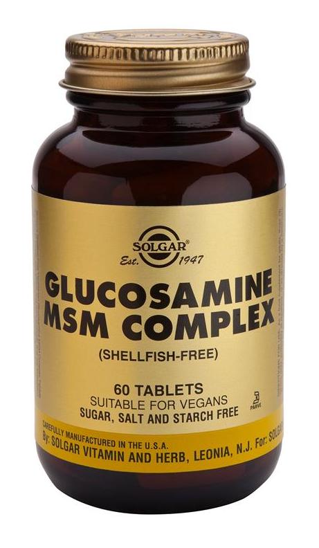 Solgar Glucosamina MSM Complex 60 comprimidos
