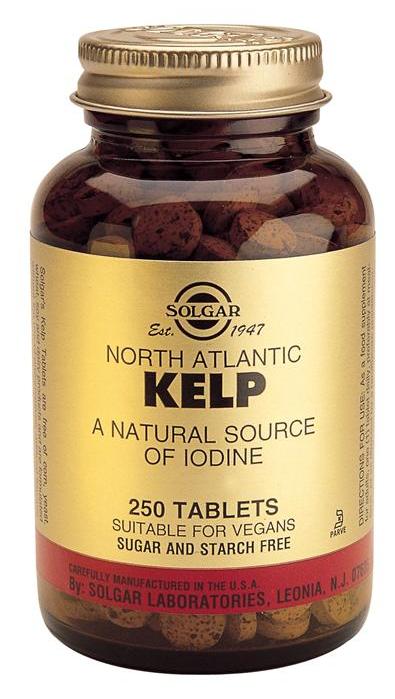 Solgar Kelp Yodo de fuente natural 250 comprimidos