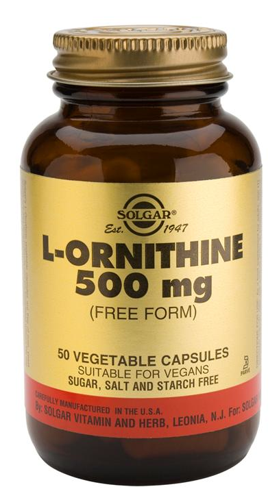 Solgar L-Ornitina 500 mg 50 cápsulas