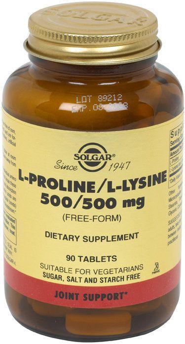 Solgar L-Prolina/L-Lisina 500 mg 90 comprimidos