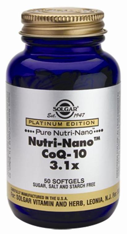 Solgar Nutri Nano CoQ 10 3.1x 50 cápsulas