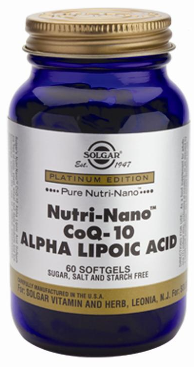 Solgar Nutri Nano CoQ 10 con Ácido Alfa Lipoico 60 cápsulas