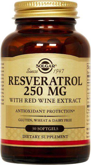 Solgar Resveratrol con Extracto de Vino Tinto 30 perlas