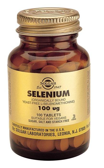 Solgar Selenio 100 microgramos 100 comprimidos
