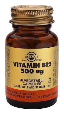 Solgar Vitamina B12 500 microgramos 50 cápsulas