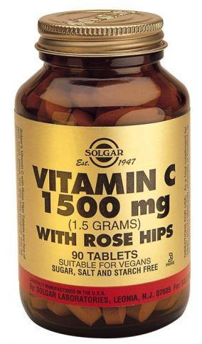 Solgar Vitamina C 1500 mg Rose Hips 90 comprimidos