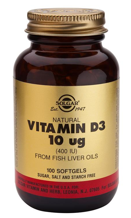 Solgar Vitamina D3 400 UI 100 cápsulas