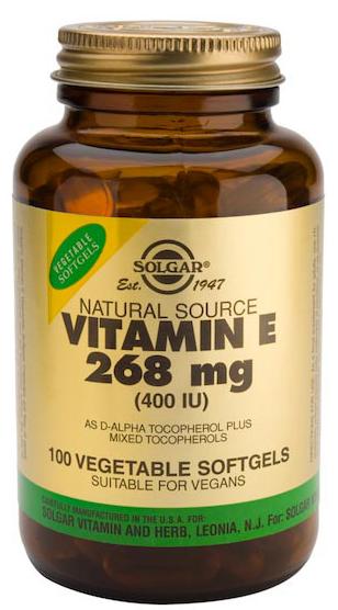 Solgar Vitamina E 400 UI 100 cápsulas blandas