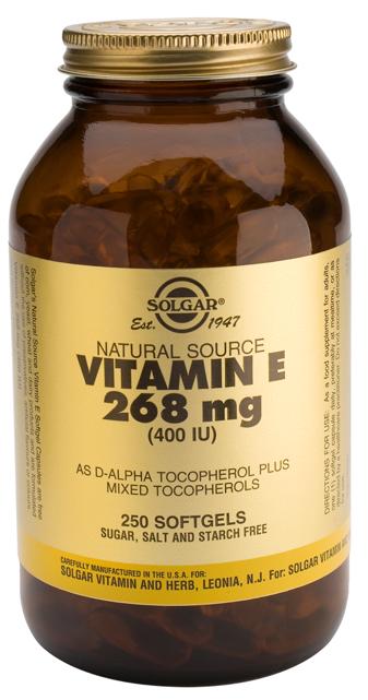 Solgar Vitamina E 400 UI 250 cápsulas blandas
