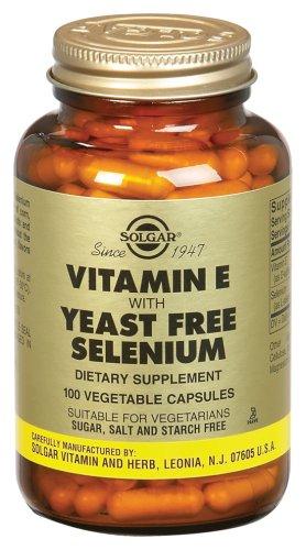 Solgar Vitamina E con Selenio sin levadura 100 cápsulas