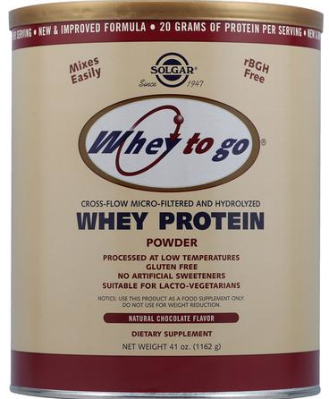 Solgar Whey To Go sabor Chocolate 1162 g