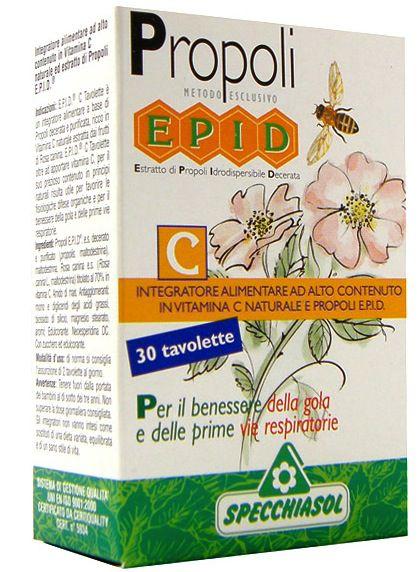 Specchiasol Epid C + Rosa + Propoleo 30 masticables