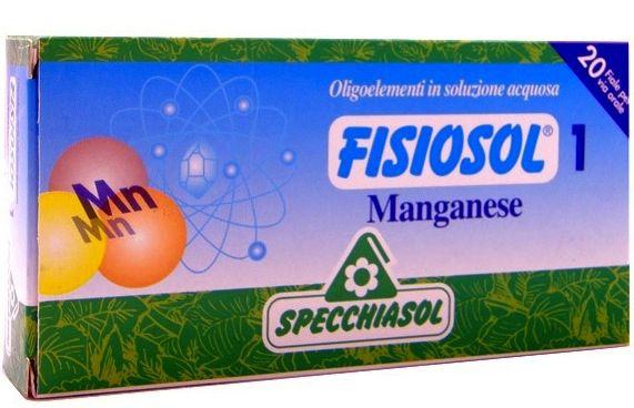 Specchiasol Fisiosol 1 Manganeso 20 ampollas